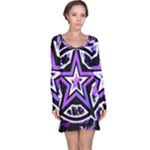 Purple Star Long Sleeve Nightdress