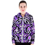 Purple Star Women s Zipper Hoodie