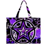Purple Star Zipper Mini Tote Bag