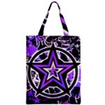 Purple Star Zipper Classic Tote Bag