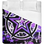 Purple Star Duvet Cover (King Size)