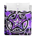 Purple Star Duvet Cover Double Side (Full/ Double Size)
