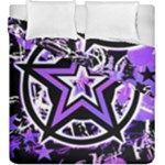 Purple Star Duvet Cover Double Side (King Size)