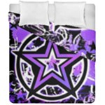 Purple Star Duvet Cover Double Side (California King Size)