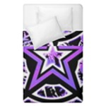 Purple Star Duvet Cover Double Side (Single Size)