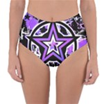 Purple Star Reversible High-Waist Bikini Bottoms