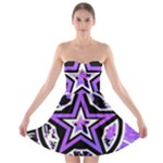 Purple Star Strapless Bra Top Dress