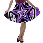 Purple Star A-line Skater Skirt