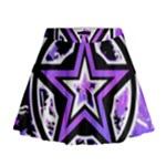 Purple Star Mini Flare Skirt