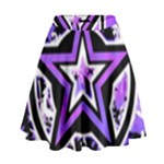 Purple Star High Waist Skirt