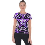 Purple Star Short Sleeve Sports Top