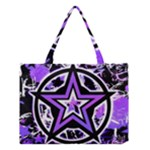 Purple Star Medium Tote Bag