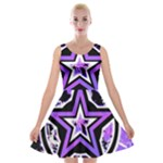 Purple Star Velvet Skater Dress