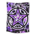 Purple Star Medium Tapestry