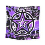 Purple Star Square Tapestry (Small)