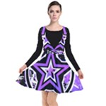 Purple Star Plunge Pinafore Dress