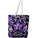 Purple Star Full Print Rope Handle Tote (Large)
