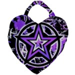 Purple Star Giant Heart Shaped Tote