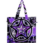 Purple Star Canvas Travel Bag