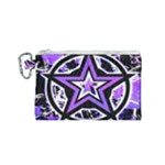 Purple Star Canvas Cosmetic Bag (Small)
