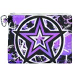 Purple Star Canvas Cosmetic Bag (XXL)