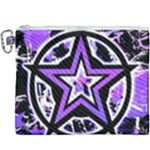 Purple Star Canvas Cosmetic Bag (XXXL)