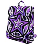 Purple Star Flap Top Backpack