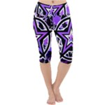 Purple Star Lightweight Velour Cropped Yoga Leggings