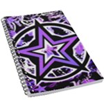 Purple Star 5.5  x 8.5  Notebook