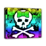 Rainbow Skull Canvas 10  x 8  (Stretched)