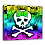 Rainbow Skull Canvas 24  x 20  (Stretched)
