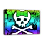 Rainbow Skull Deluxe Canvas 18  x 12  (Stretched)