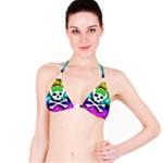 Rainbow Skull Bikini Top