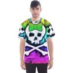 Rainbow Skull Men s Sports Mesh Tee