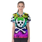 Rainbow Skull Women s Cotton Tee