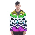 Rainbow Skull Men s Hooded Windbreaker