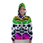 Rainbow Skull Women s Hooded Windbreaker