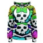 Rainbow Skull Women s Pullover Hoodie