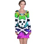Rainbow Skull Long Sleeve Nightdress