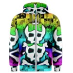 Rainbow Skull Men s Zipper Hoodie
