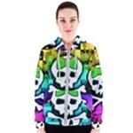 Rainbow Skull Women s Zipper Hoodie