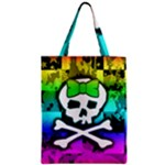 Rainbow Skull Zipper Classic Tote Bag