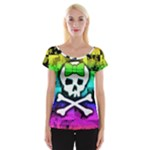 Rainbow Skull Cap Sleeve Top