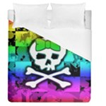 Rainbow Skull Duvet Cover (Queen Size)