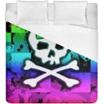 Rainbow Skull Duvet Cover (King Size)