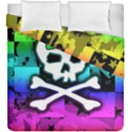 Rainbow Skull Duvet Cover Double Side (King Size)