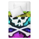 Rainbow Skull Duvet Cover Double Side (Single Size)