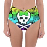 Rainbow Skull Reversible High-Waist Bikini Bottoms