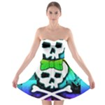 Rainbow Skull Strapless Bra Top Dress