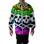 Rainbow Skull Kids  Hooded Windbreaker